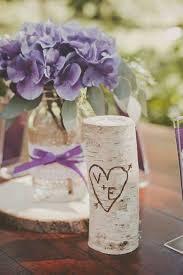 Mason Jars Wedding Centerpieces by 138 Best Purple Burlap U0026 Lace Wedding Images On Pinterest Burlap