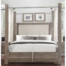 queen canopy bed contemporary gray queen canopy bed buena vista rc willey