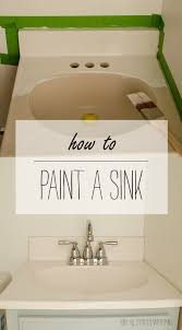 Replacing Bathroom Vanity by How To Paint A Sink