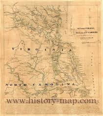Virginia North Carolina Map by Civil War Map Of Virginia And North Carolina