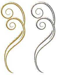 gold and silver decorative ornaments png clipart gallery