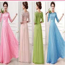 occasion dresses for weddings promotion 5 color gown lace chiffon draped gauze