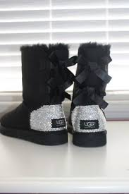 ugg australia bailey bow sale i d like these in black size 8 with medium size crystals