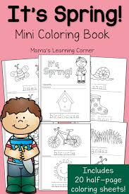 mini coloring book spring coloring pages mamas learning corner