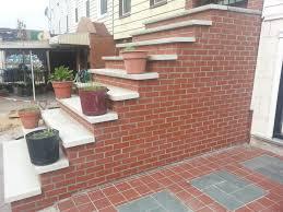 Pointing A Patio by Bluestone Steps With Brick Tags Brick And Limestone Steps