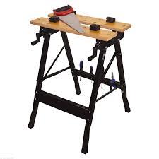 height adjustable tilt and clamp folding work bench trestle