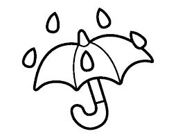 open umbrella coloring coloringcrew