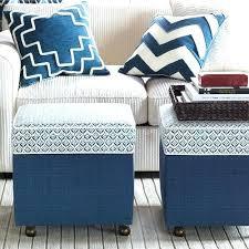 blue storage ottoman blue storage ottoman coffee table u2013 sensuuri info