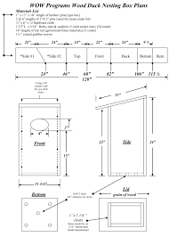 wood duck house plan house design plans