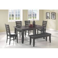drop gorgeous gallery furniture dining bench wood corner with