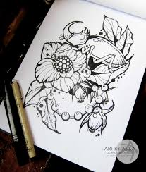 tattoo sketch neotraditional by asikaart on deviantart