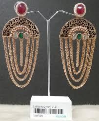 jhumka earrings with chain designer chain jhumka earrings at rs 205 pair jhumka earrings