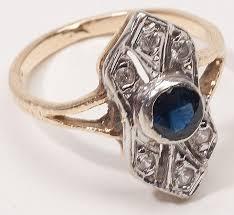 vintage estate engagement rings vintage estate sapphire 14 karat gold engagement ring from