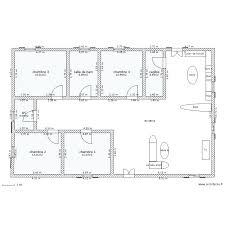 plan maison 150m2 4 chambres plan maison en l 4 chambres architectures plan plan la plan plan