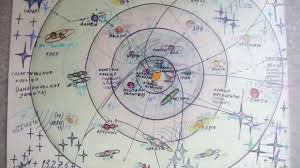 Solar System Map Space Map Of 30 Planets Of Solar System Created By 7 Years
