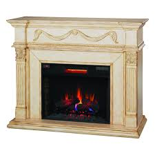 Electric Fireplace With Mantel Classic Gossamer 28wm184 T408 Electric Fireplace Wall Mantel