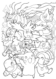 awesome all pokemon anime coloring pages for kids printable free