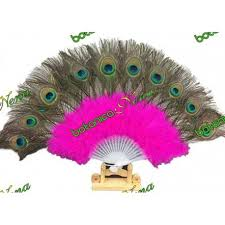 feather fans feather fan fucsia for obba