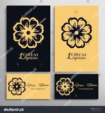 mandala ornaments business cards set stock vector 529049116