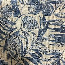 upholstery fabric oaks indigo tropical pattern woven texture
