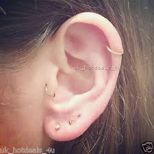 stud cartilage piercing 20g gold cartilage earring rook helix cuff tragus ring nose