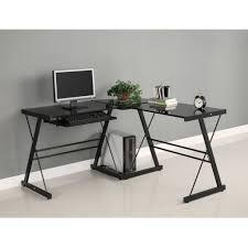 L Shaped Home Office Furniture Glass Metal Desks With L Shaped Black Glass Desk U2013 Expensive Home