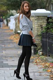 i love short skirts with leggings little heeled boots and loose
