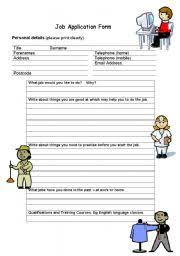 english teaching worksheets application form