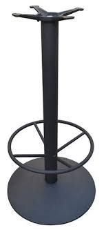 bar height table base with foot ring cast iron round bar height table base with 22 base spread and 19