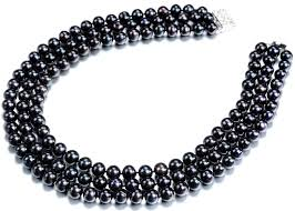 jewelry black pearl necklace images 3 strand black pearl necklaces JPG