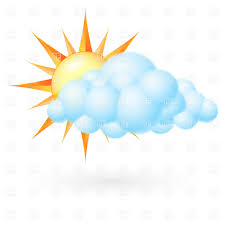 sun with cloud cloudy clipart panda free clipart images
