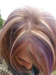 foils blonde red and purple my hair styles pinterest