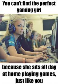 Perfect Girl Meme - you cant found the perfect gaming girl imgur
