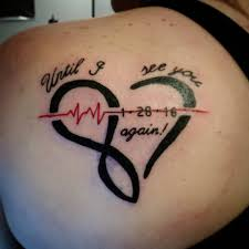 heartbeat tattoo with infinity awesome top 100 infinity tattoo http 4develop com ua top 100