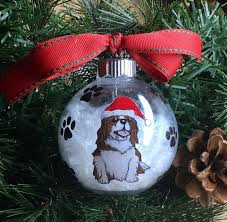 personalized painted king charles cavalier ornament