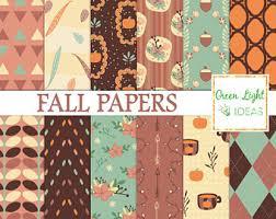 fall digital paper etsy