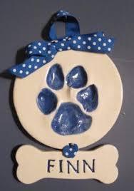 cutie pies clay print keepsakes ceramic paw print canine