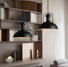 Wrought Iron Island Light Fixture Wrought Iron Industrial Pendant Ceiling Lamp Vintage Black Metal