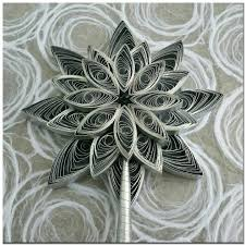 elegant handmade quilled paper silver star christmas tree