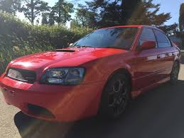 red subaru legacy 2000 subaru legacy b4 rsk blitzen edition twin turbo for sale