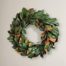 magnolia leaf wreath diy 15 dried magnolia wreath olive jude