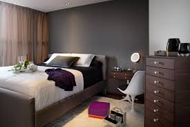 grey walls color accents formal bedroom decorating ideas with dark grey wall color and dark