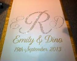 personalized wedding aisle runner best 25 wedding aisle runners ideas on aisle runners