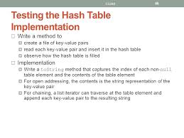 Hash Table Implementation Lecture Objectives To Learn About Hash Coding And Its Use To