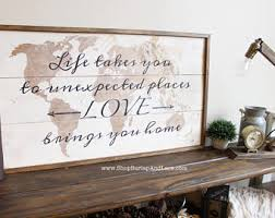 Home Decor Places World Map Decor Etsy