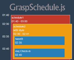 schedule jquery plugins
