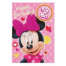 minnie mouse birthday hallmark disney minnie mouse 2nd birthday card sweet