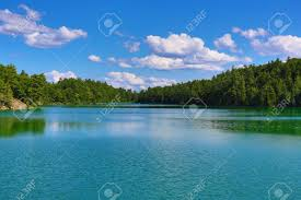 Pink Lake Pink Lake In Gatineau Park Quebec Canada Stock Photo Picture