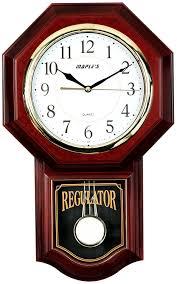 wall watch amazon com maple s plastic wall clock with pendulum home kitchen
