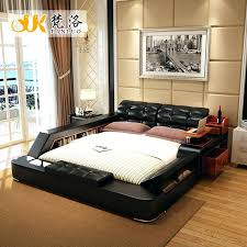 cheap leather bed frames modern designer black and white 6 double